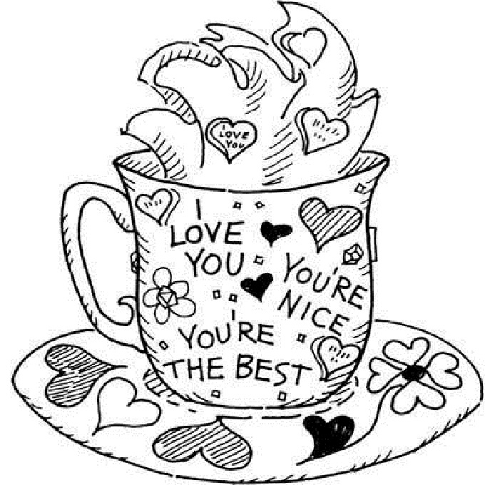 You Are The Best Greeting Card Coloring Pages