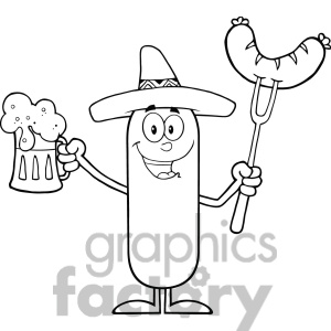 8449 Royalty Free Rf Clipart Illustration Black And White Happy