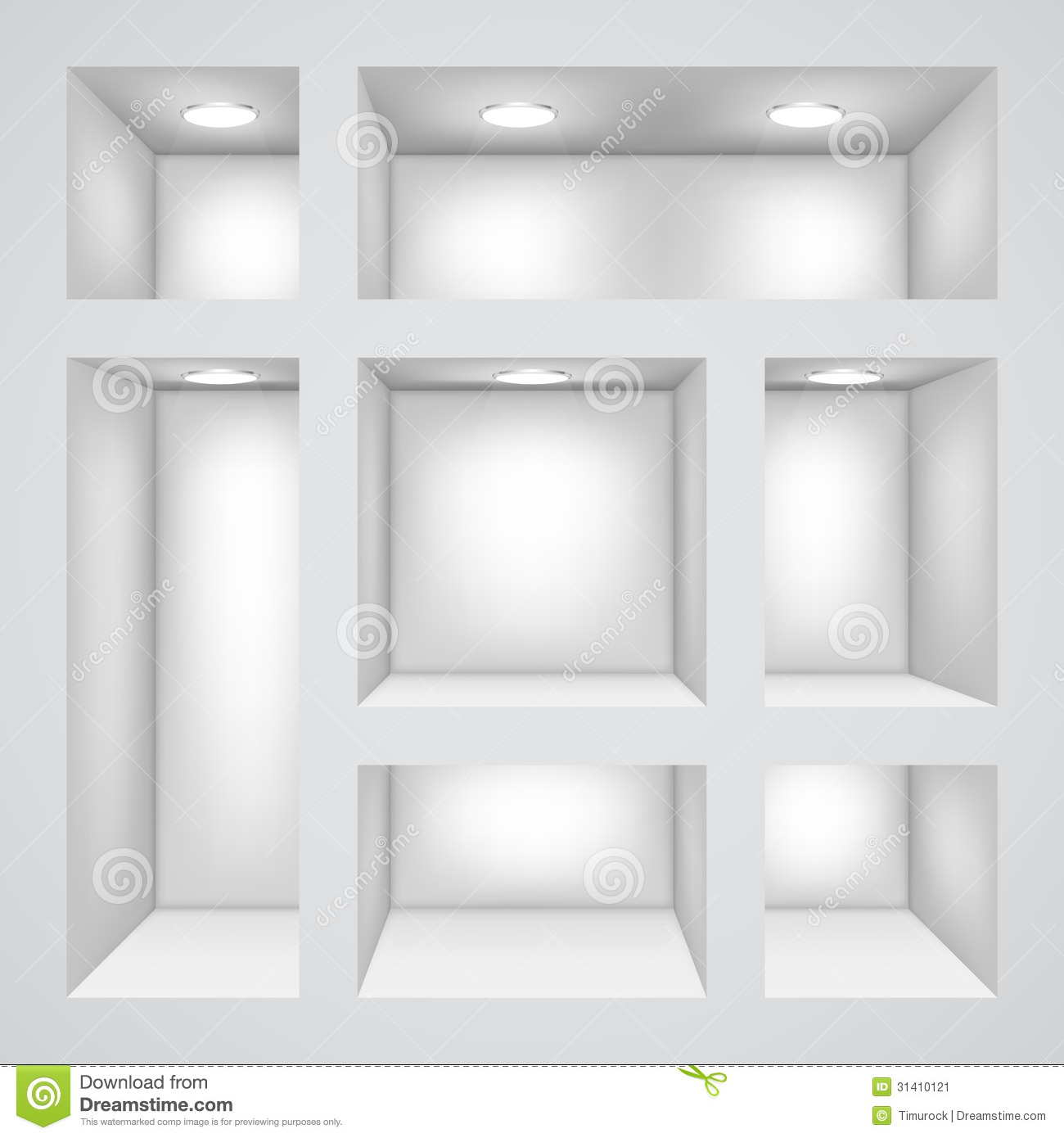 Empty Shelves Clipart White Wall With Empty Shelves