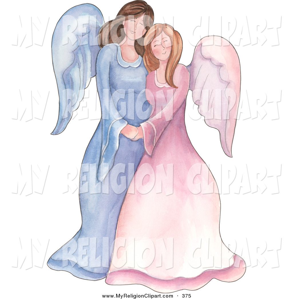 Larger Preview  Religion Clip Art Of A Mother And Daughter Or Sister
