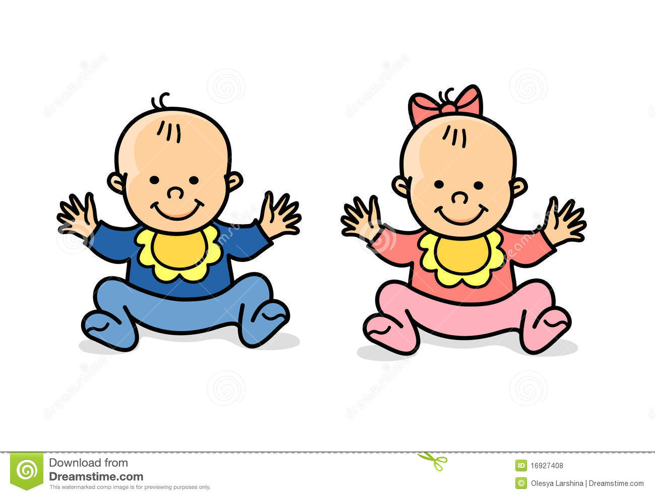 Little Twins Girl And Boy Royalty Free Stock Photos   Image  16927408