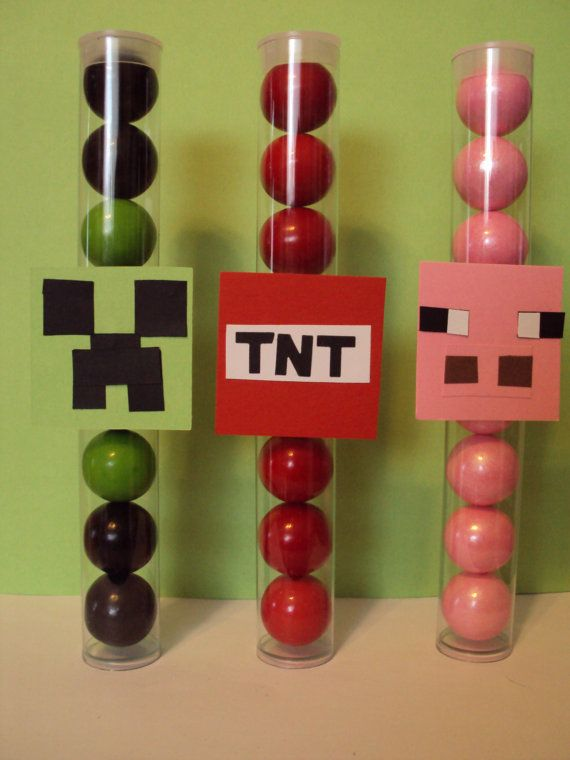 Minecraft Logos Tags Gumball Tube Minecraft Character 12 Fillings