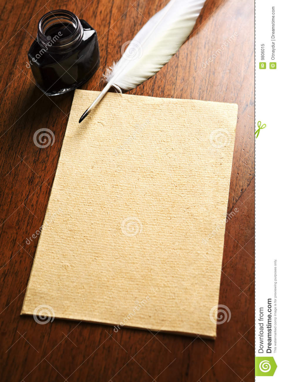 Old Blank Paper And Quill Pen Royalty Free Stock Photo ...