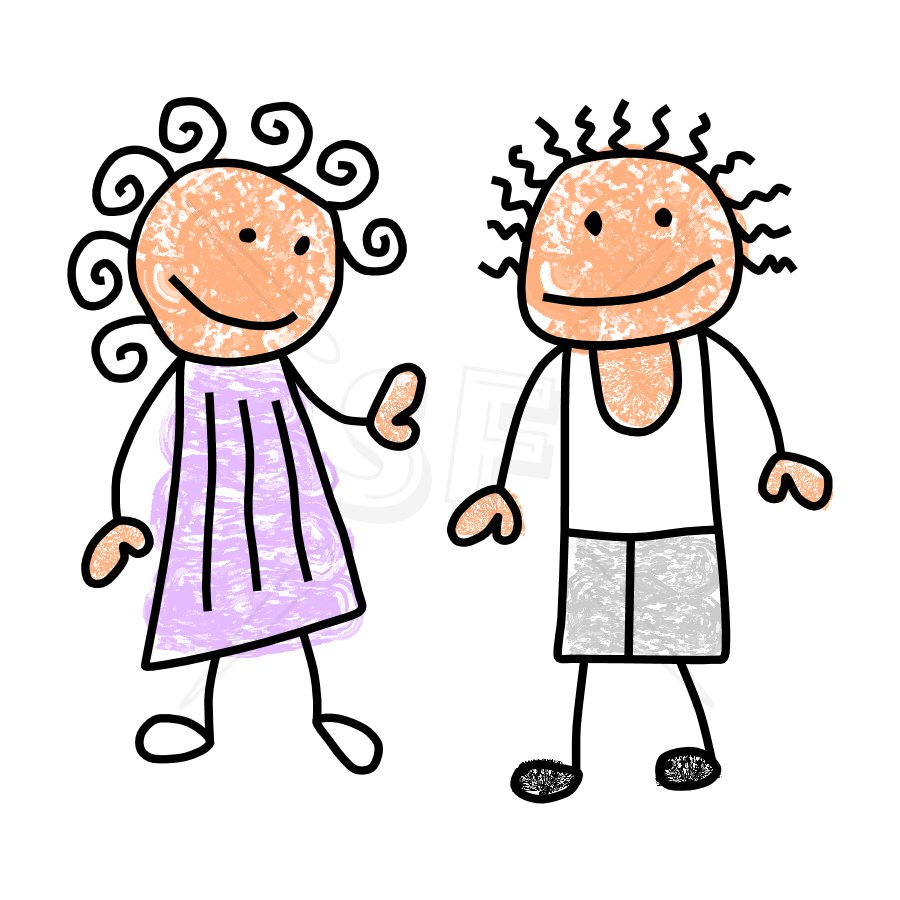 Boy And Girl Clipart - Clipart Kid