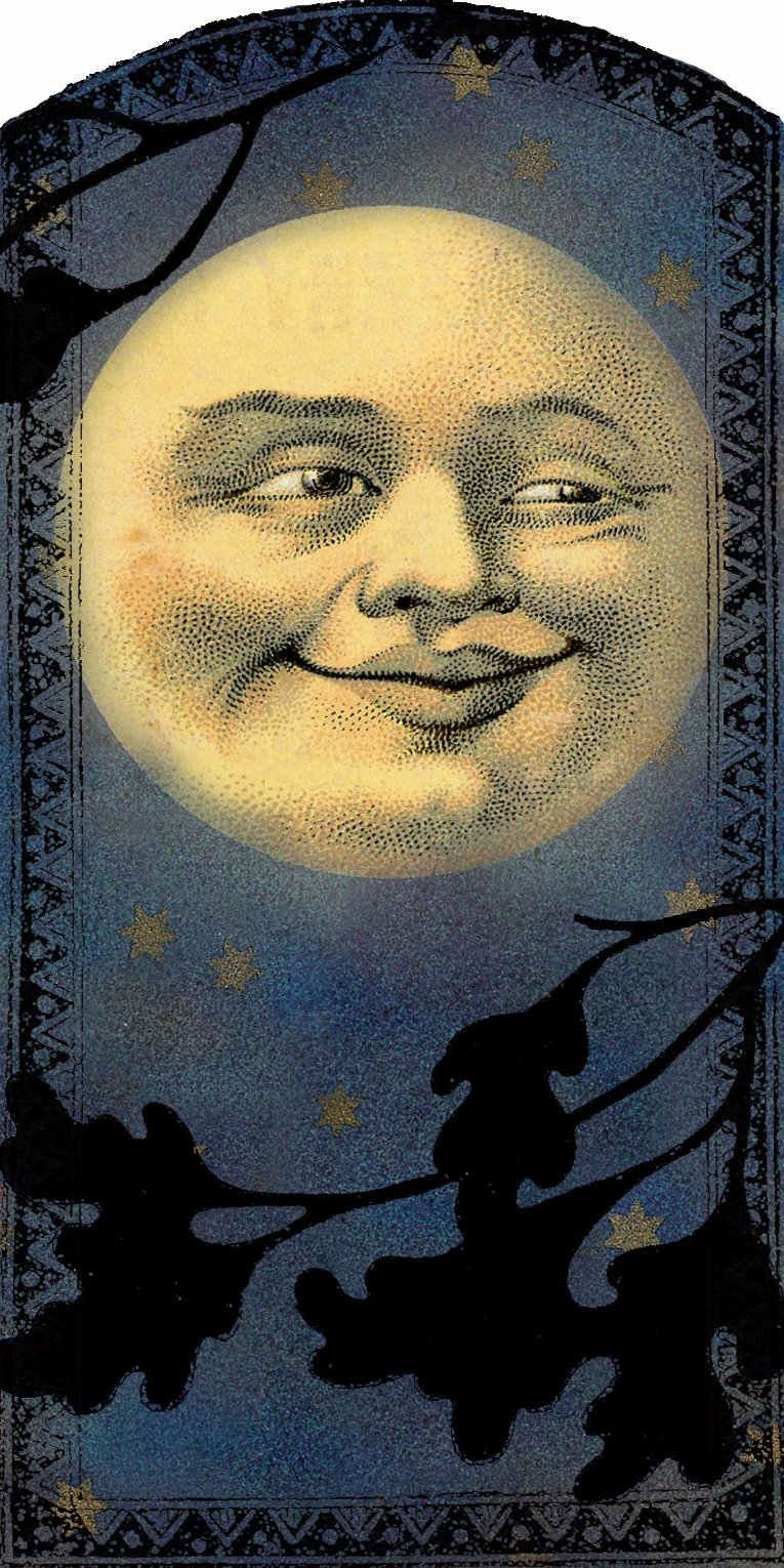 man in the moon clipart - photo #35