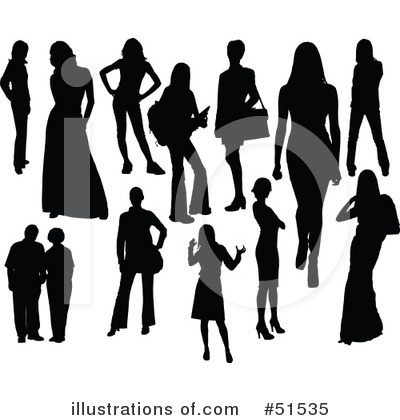 Women Clipart  51535 By Leonid   Royalty Free  Rf  Stock Illustrations