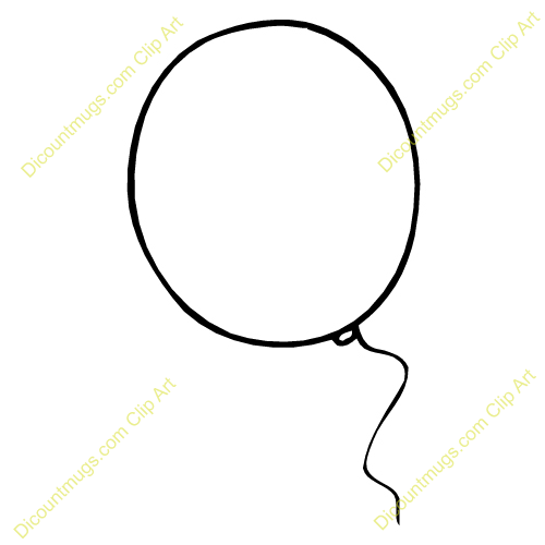 Balloon Outline Clipart - Clipart Kid