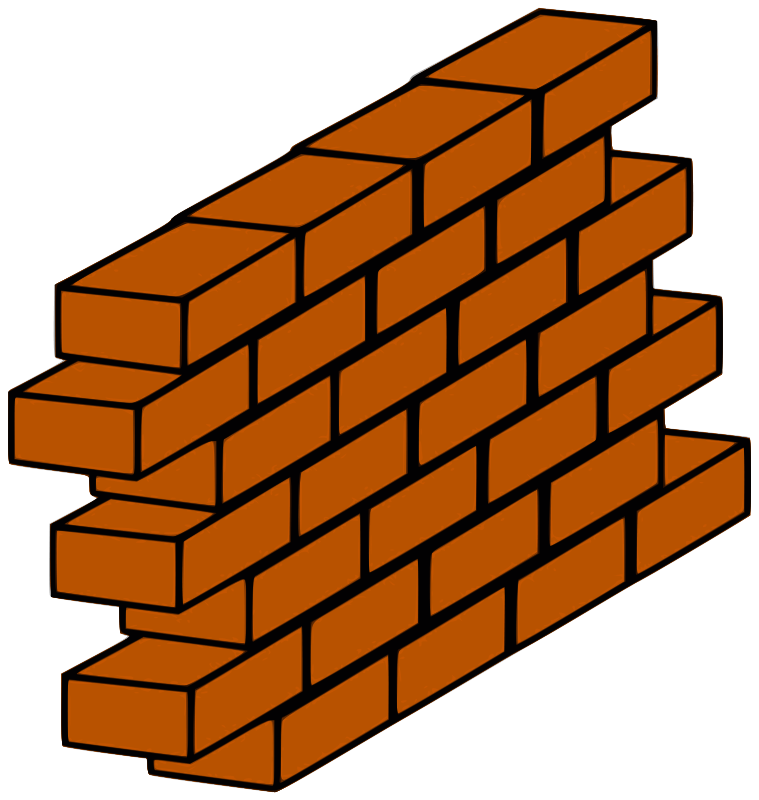 Brick Fireplace Clipart Brick Wall Png