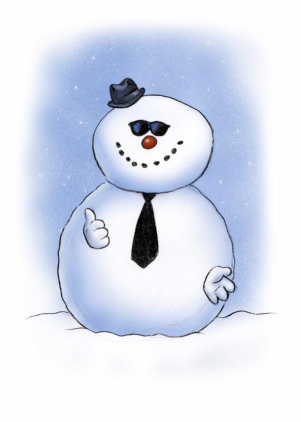 cool snowman clipart