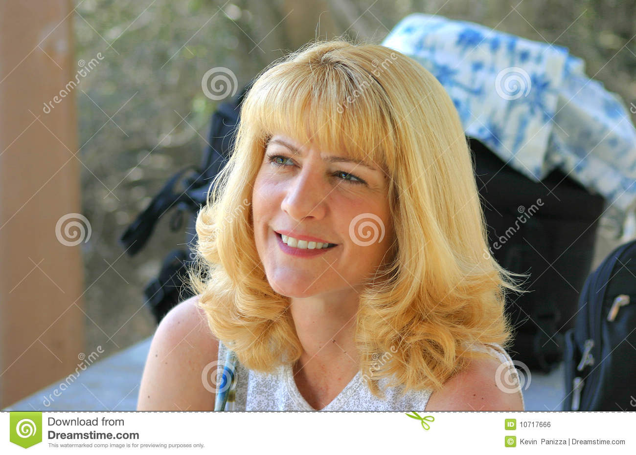 Cute Blonde Mom Looking Up Royalty Free Stock Image   Image  10717666