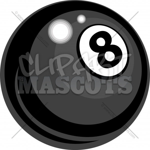 Eight Ball Clipart Billiards Vector Design   Clipart 4 Mascots