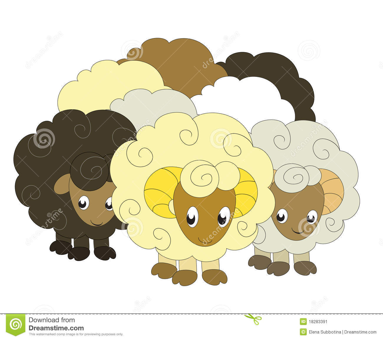 Flock Of Sheep Clipart Clipart Suggest