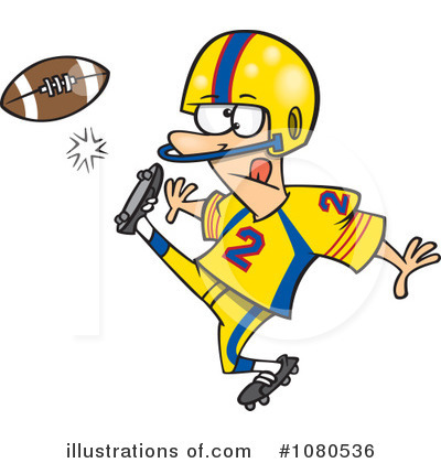 Football Clipart  1080536   Illustration By Ron Leishman