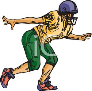 Football Kicker Clipart