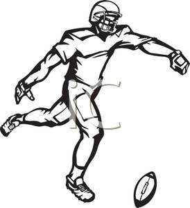 Kicker Clipart A Kicker Punting A Football Royalty Free Clipart