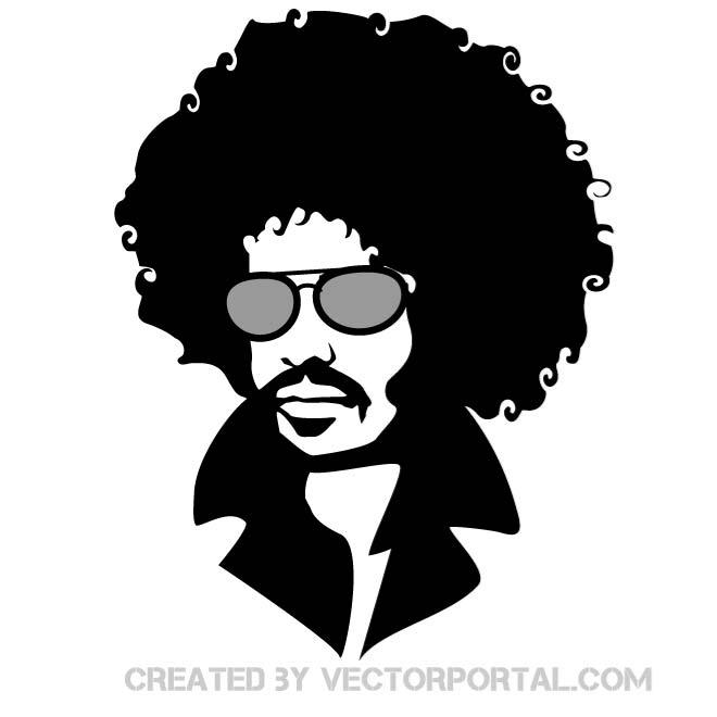 Man With Afro Hair Vector   Download At Vectorportal