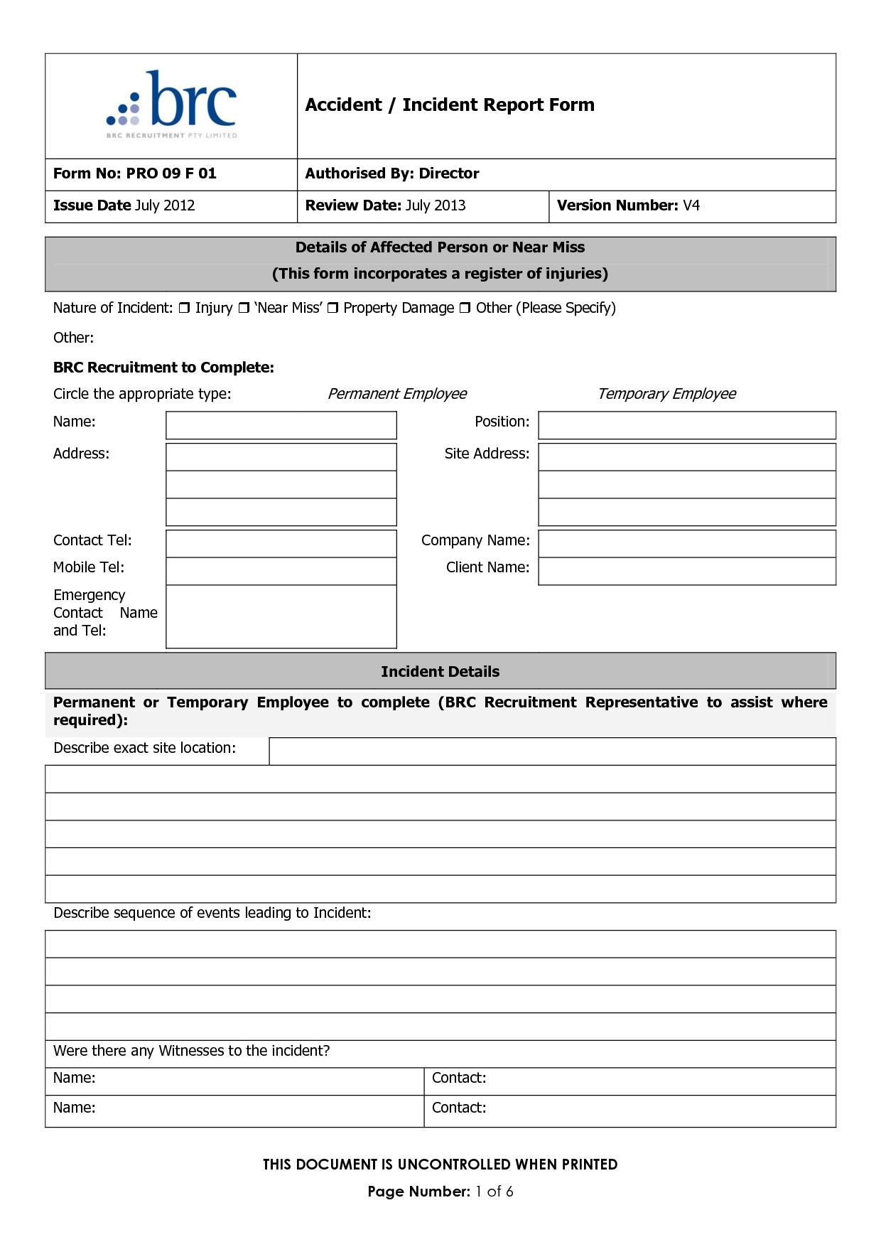 Incident Report Clipart Clipart Kid – Injury Incident Report Form Template