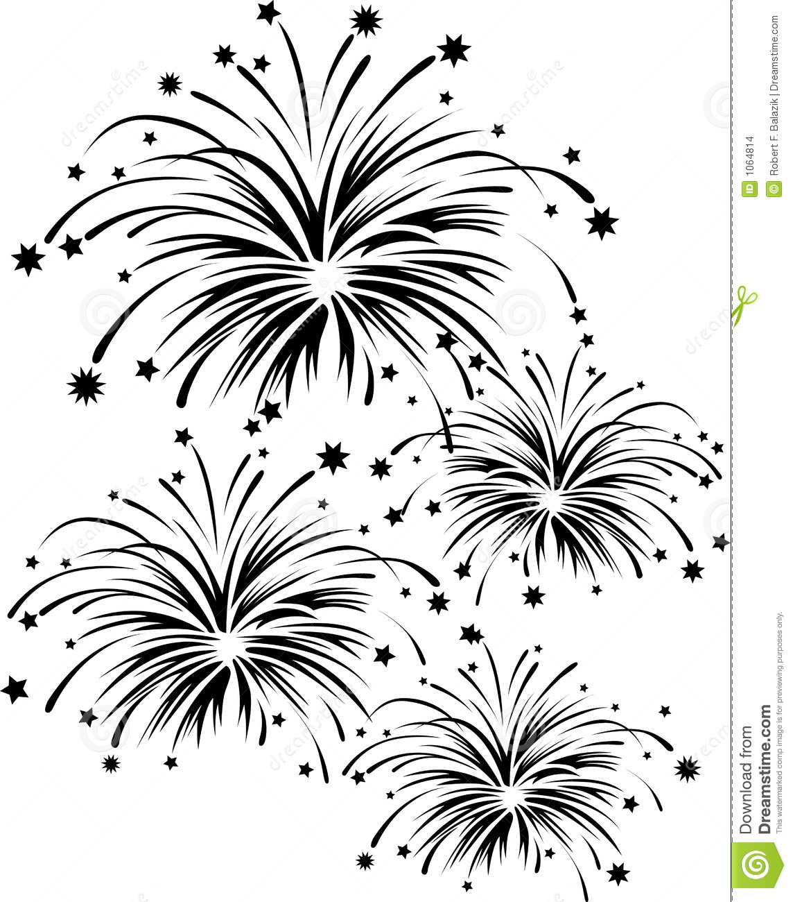 Raster Graphic Depicting A Fireworks Display