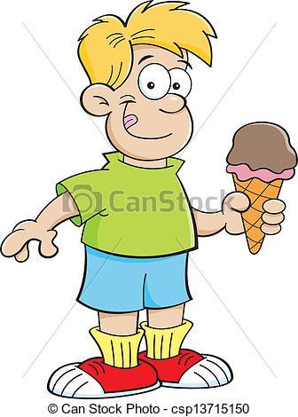Eating Ice Cream Clip Art