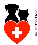 Veterinary Sign With Dog And Cat   Veterinary Sign With Dog