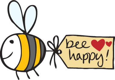 Happy Bee Clipart - Clipart Kid