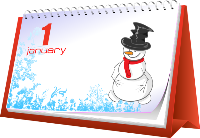 Clip Art And Information About The Month Of January