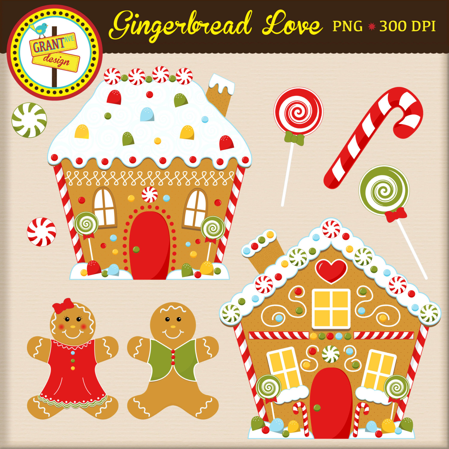 Clipart  Cute Girl Gingerbread Clipart  Cute Gingerbread Clipart