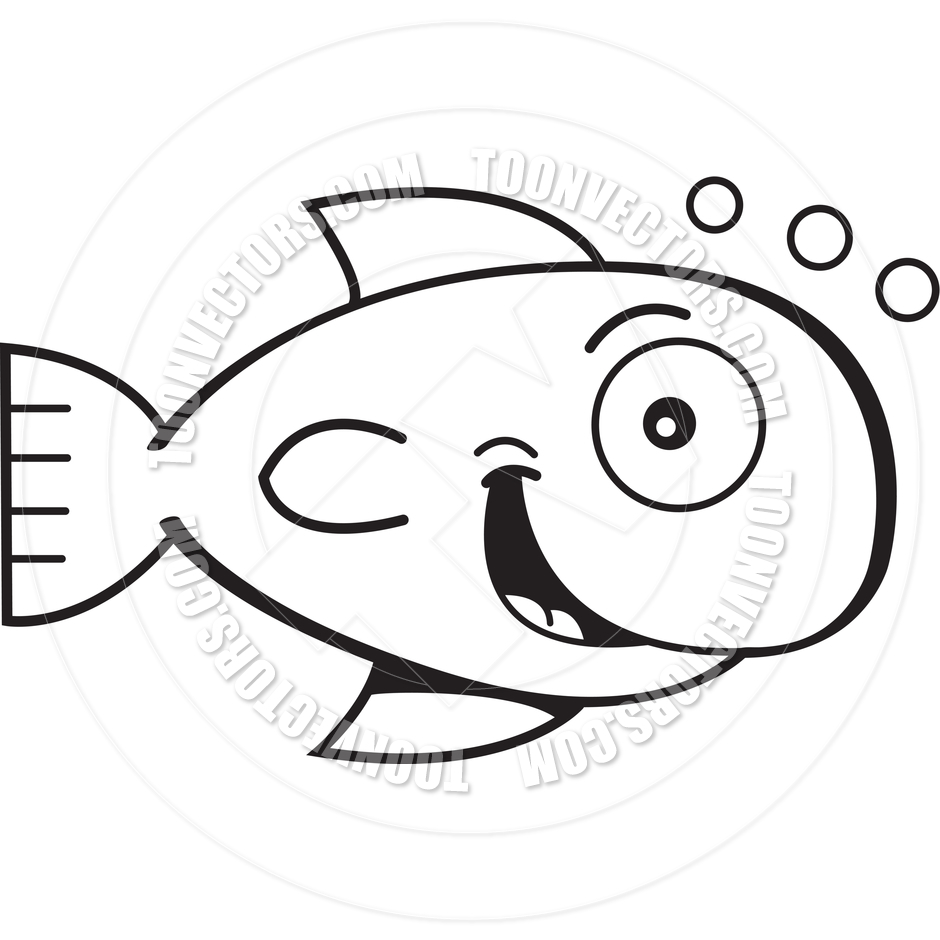 Goldfish Clipart Black And White Toonvectors 66329 940jpg Clipart