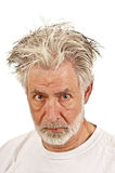 Older Man Showing Anger Or Suspicion Royalty Free Stock Photography