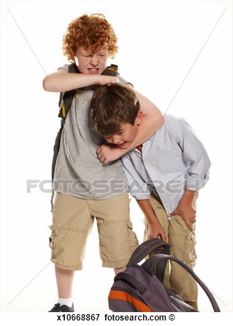 Picture   Boy  6 8  Being Bullied By Older Boy  9 11   Fotosearch