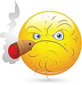 Smoking Man Smiley Face