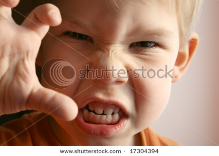 The Little Boy Represents Anger    Picture Stock Photo Stock