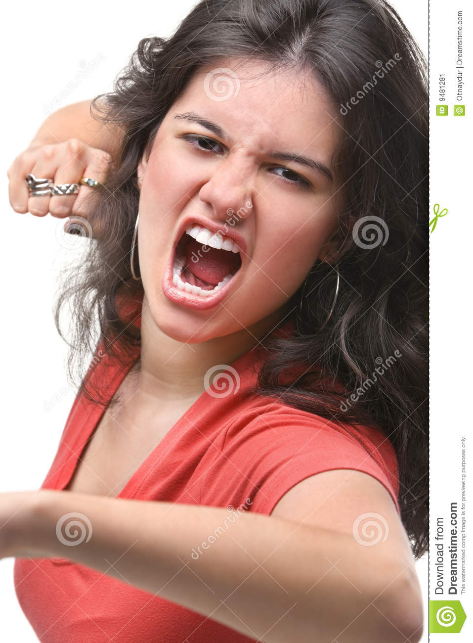 Young Female Expressing Her Anger Stock Image   Image  9481281
