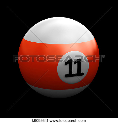 Clipart   Colorful Pool Ball Over Black  Fotosearch   Search Clip Art