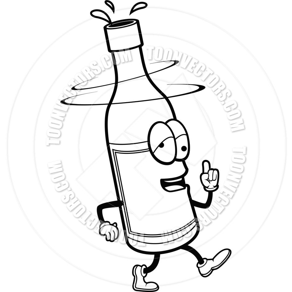 One Line Art Beer : Beer bottle black and white clipart suggest