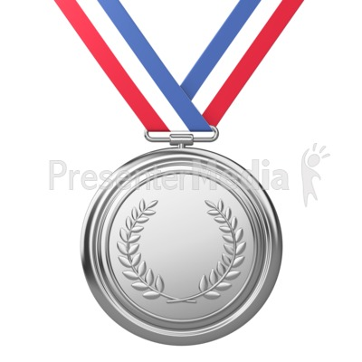 Medal Award Second Place   Sports And Recreation   Great Clipart