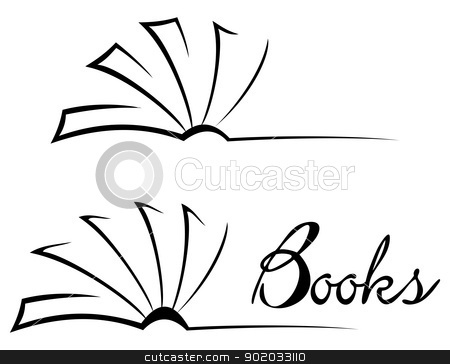 Open Book Clip Art Black And White   Clipart Panda   Free Clipart