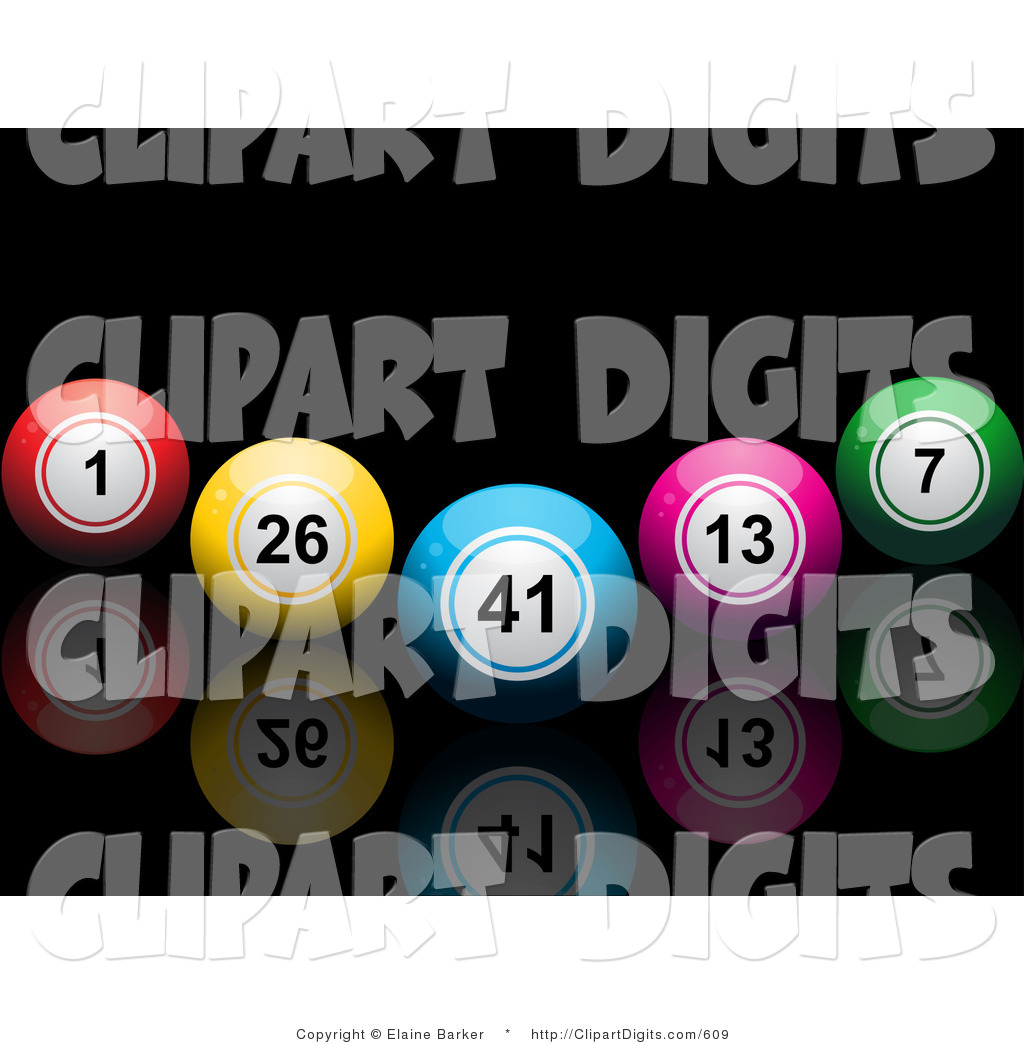 Pin Clipart Colorful Digits Making Number 4 Royalty Free Vector On