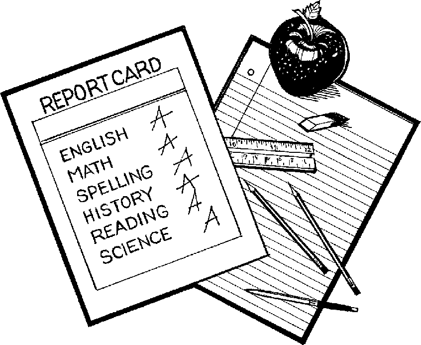 Clip Art Report Card Clip Art report card black and white clipart kid card