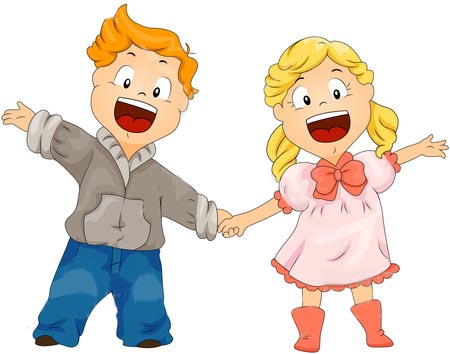 Happy Boy And Girl Clipart - Clipart Suggest