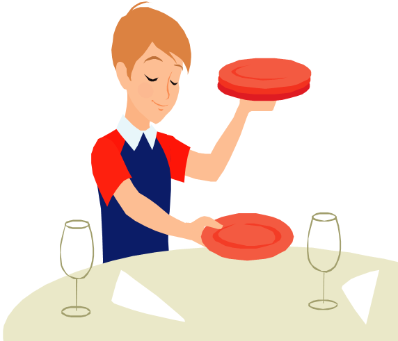 Table Setting Clipart - Clipart Kid