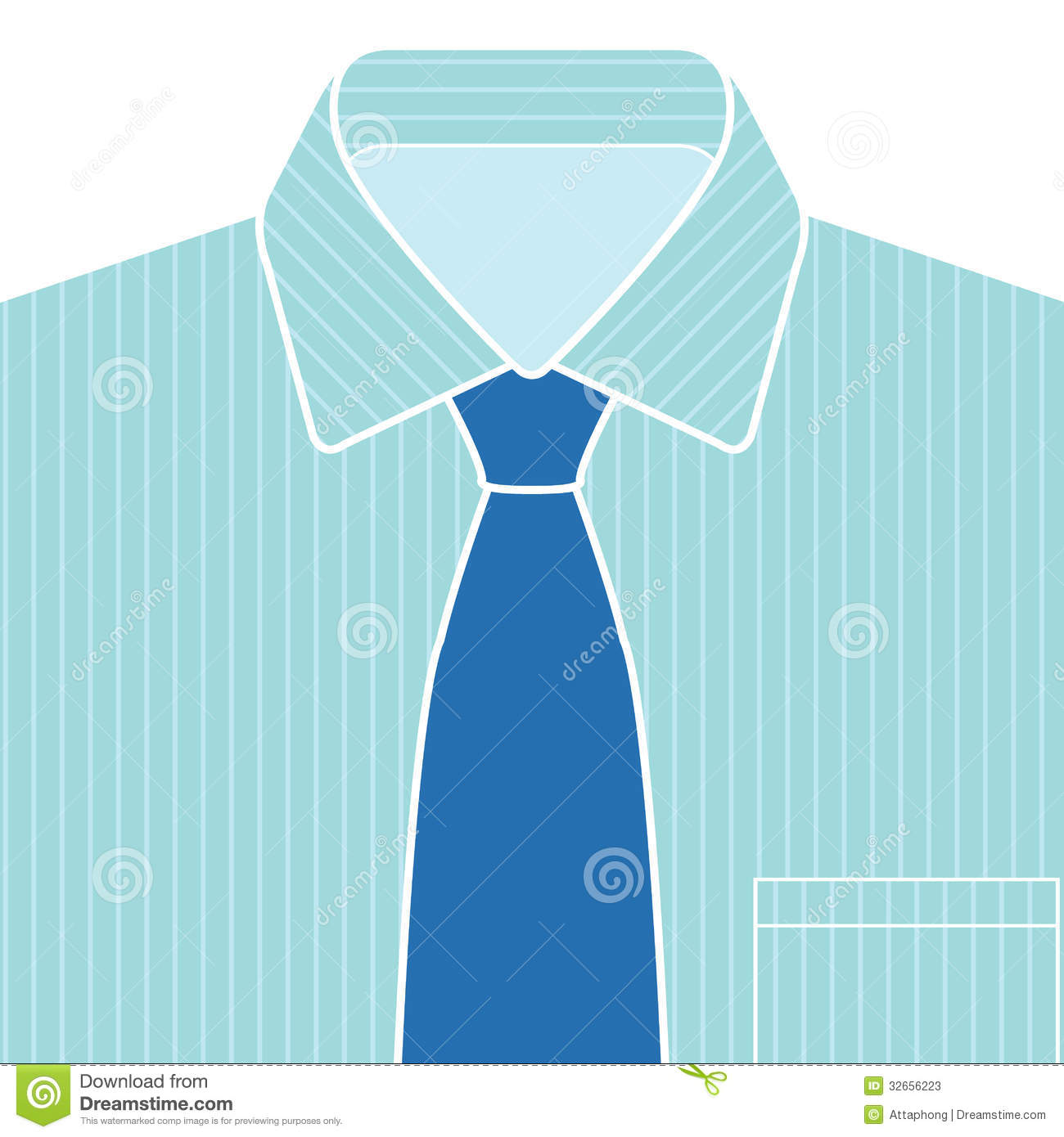 Blue Shirt And Tie Vector Stock Photos   Image  32656223