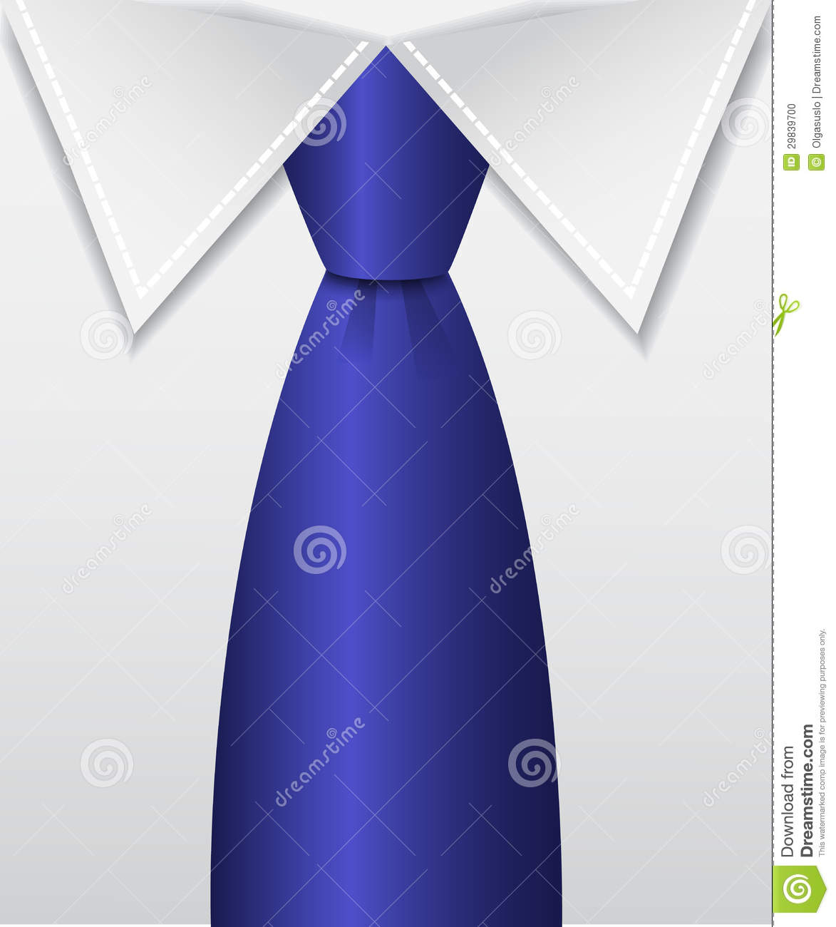 Blue Tie Stock Photo   Image  29839700