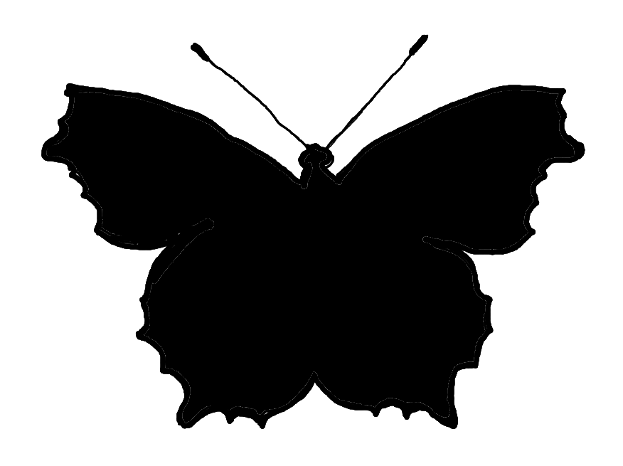 butterfly silhouette art clip black and white moth clipart clipart suggest 1192