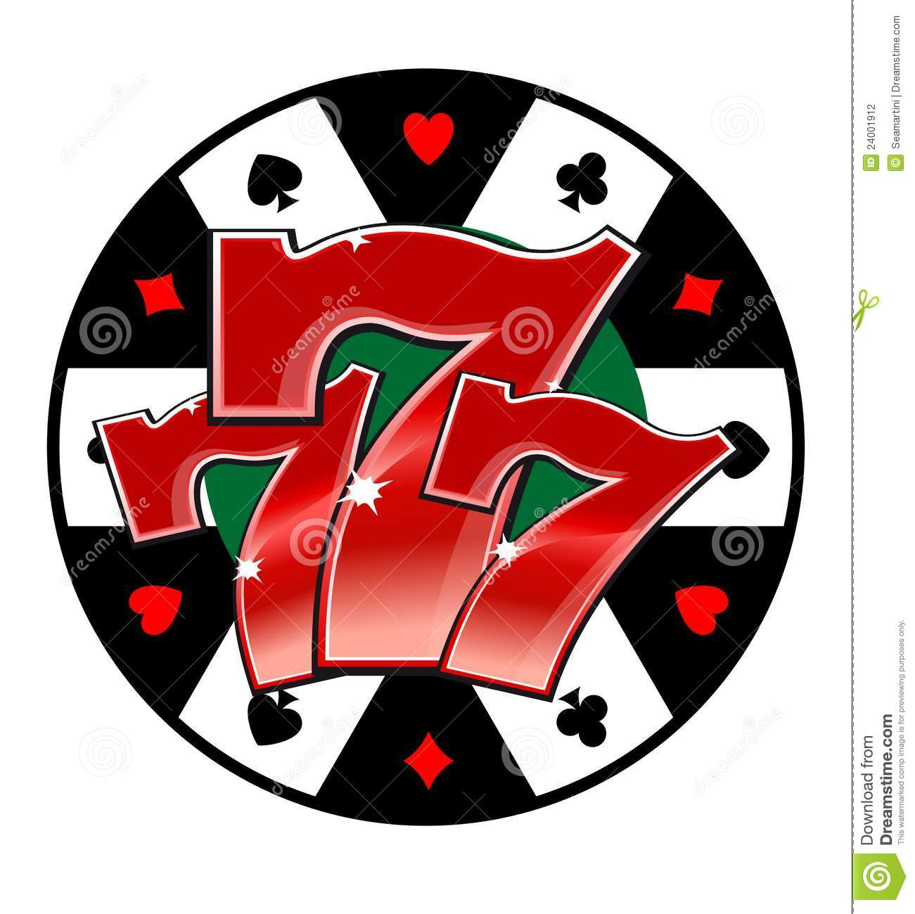 Casino Lucky Symbol Stock Photography   Image  24001912