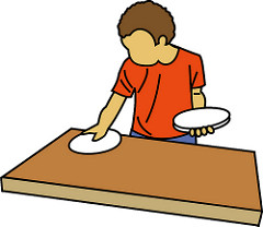 Child Setting The Table Clipart Boy Setting Table