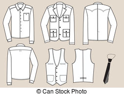 Clothes For Men Illustration  Vector Clothing Eps Vector