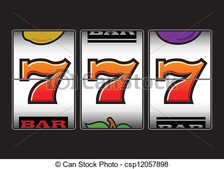 Eps Vectors Of Lucky Triple Sevens Slots Machine   Winner Triple