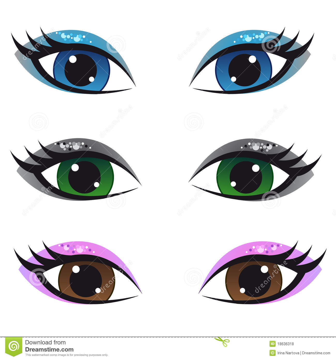 Set Of Eyes Clipart - Clipart Kid