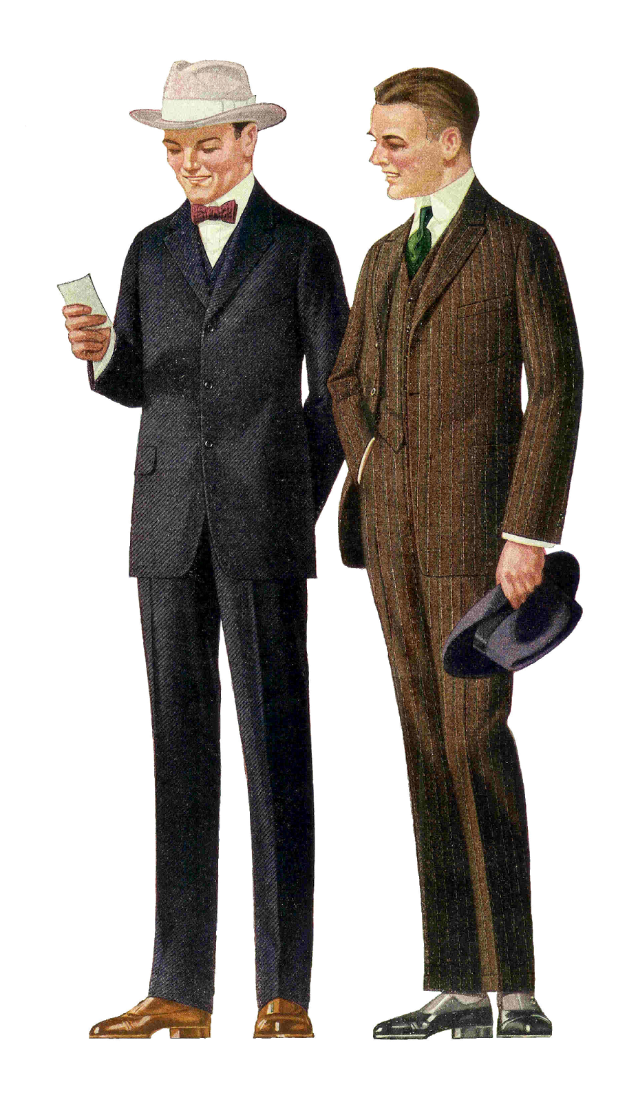 Free Fashion Clip Art  1915 Men S Suits 2 Vintage Fashion Graphics